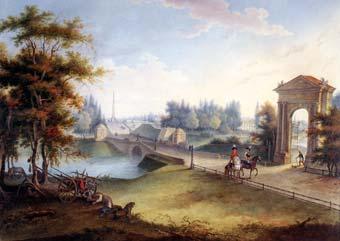 Г.С.Сергеев. Вид на Адмиралтейские ворота